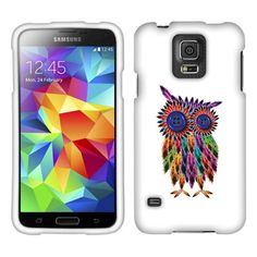 Samsung Galaxy S5 G900 Feather Owl Texture Faceplate Snap-On Hard Cover Case.  This Feather Owl Texture Faceplate Snap-On Hard Cover Case will make