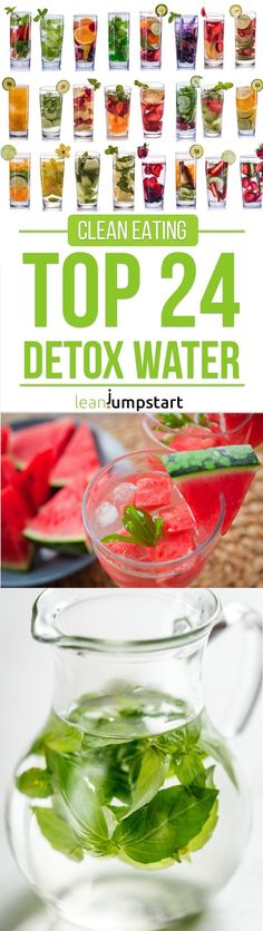 With all the hype going on regarding detox water, I felt it is time to present my favorite 24 clean, flavored water recipes. Click here and learn more.