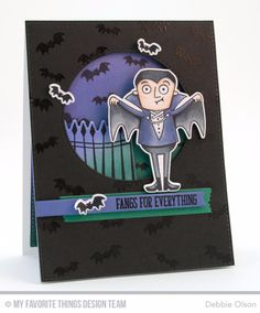 Frightful Friends Stamp Set and Die-namics, Inside & Out Stitched Circle STAX Die-namics, Blueprints 13 Die-namics, Blueprints 25 Die-namics, Blueprints 27 Die-namics - Debbie Olson  #mftstamps
