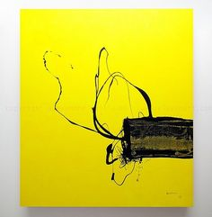 Abstract Art New York, Abstract Yellow Painting M 517 by Contemporary Art New York | Alexandre Guillaume