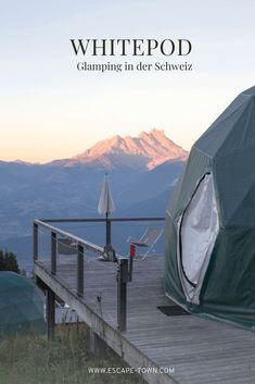 Einzigartige Übernachtung im Glamping Zelt in den Schweizer Bergen. Eine tolle Idee für Zeit zu Zweit oder in den größeren Zelten auch mit der ganzen Familie. Boutique Hotels, Glamping, Hotel In Den Bergen, Wallis, Outdoor Gear, Tent, Around The Worlds, Luxury, Instagram