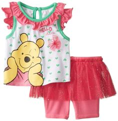 Amazon.com: Disney Baby-Girls Newborn Winnie The Pooh Hello There Short Set, Pink, 3-6 Months: Clothing
