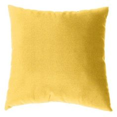 Cushion Source 17 x 17 in. Solid Sunbrella Indoor / Outdoor Throw Pillow Buttercup - E63AI-5438, Durable