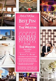 Click here for the scoop & contest details to win a luxe Couples Package @The Westin Galleria Dallas! #wedding #dallas #fortworth #contest