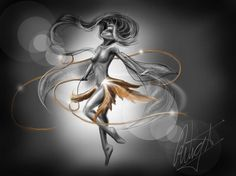 """""""TRILLIAN. Drawing"""" by Robin Wight"""