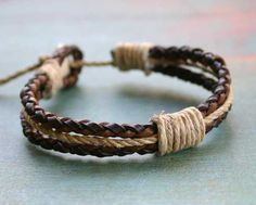 Surfer-Braided-Leather-2-Strands-Bracelet-and-Hemp