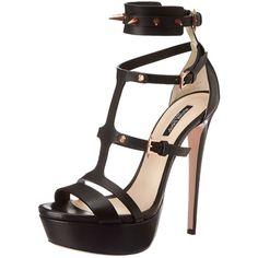 Ruthie Davis Women's Kat Platform Sandal (23.745 RUB) ❤ liked on Polyvore featuring shoes, sandals, heels, ruthie davis shoes, ruthie davis, platform sandals, platform shoes and platform heel sandals