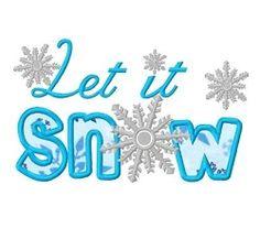 Let It Snow Applique - 3 Sizes!   Winter   Machine Embroidery Designs   SWAKembroidery.com Dollar Applique