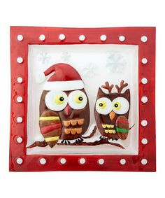 Loving this Holiday Owl Serving Platter on #zulily! #zulilyfinds