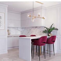 27 Modern Kitchen Interior Design That You Have to Try Kitchen Room Design, Modern Kitchen Design, Home Decor Kitchen, Kitchen Furniture, Home Kitchens, Kitchen Ideas, Condo Interior Design, Apartment Interior, Room Interior