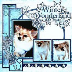 Winter Wonderland Pet Scrapbooking