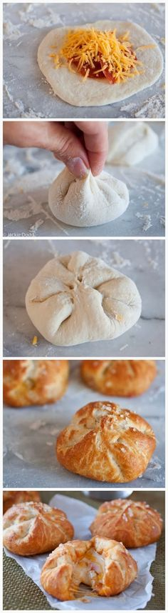 Pizza Stuffed Pretzel Rolls