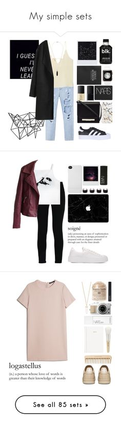 """""""My simple sets"""" by obrien91 ❤ liked on Polyvore featuring Color Me, MANGO, adidas Originals, Polaroid, The Row, NARS Cosmetics, Topshop, STELLA McCARTNEY, Maison Margiela and Incase"""