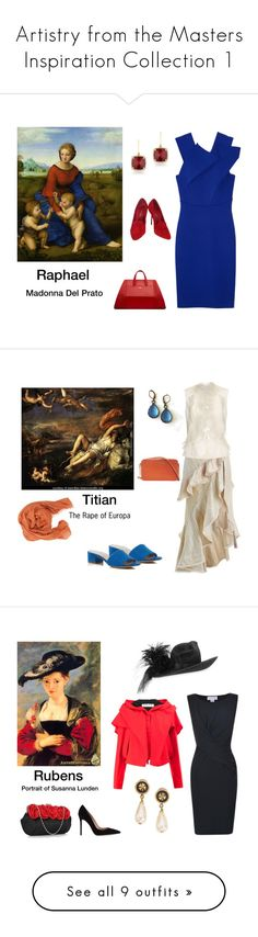 """""""Artistry from the Masters Inspiration Collection 1"""" by scolab ❤ liked on Polyvore featuring Roland Mouret, Sergio Rossi, Anne Sisteron, La Perla, Pomandère, Zimmermann, Oscar de la Renta, Via Spiga, Michael Kors and Velvet"""