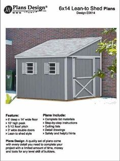 Completed lean to shed attached to existing house or garage wall do it yourself a storage shed plans lean to style shed plans 6 solutioingenieria Images