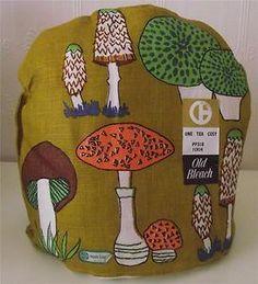 Funky Vintage Tea Cosy Mushroom Theme
