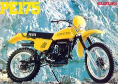 Suzuki Dirt Bikes, Suzuki Motocross, Enduro Motorcycle, Motocross Bikes, Sport Bikes, Enduro Vintage, Vintage Motocross, Japanese Motorcycle, Classic Bikes
