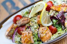 """When I started my weight loss journey, I was curious about how to eat clean and lose weight in the process. I had heard the term """"clean eating,"""" but I wasn't quite sure what it… View Post Spring Grilling Recipes, Fish Recipes, Healthy Recipes, Clean Eating, Healthy Eating, High Fiber Foods, Rich In Protein, Grilled Salmon, Nutritious Meals"""