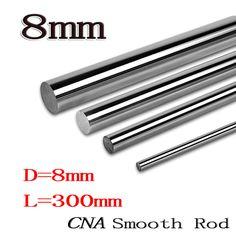 2pcs/lot 8mm  linear shaft 8x300 L300mm 3D printer 8mm x 300mm Cylinder Liner Rail Linear Shaft axis cnc parts #shoes, #jewelry, #women, #men, #hats, #watches, #belts