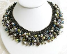 Multi-Bead Choker (Bib) Necklace