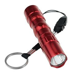 LandFox FlashlightMini Light Waterproof LED Flashlight Adjustable Focus Zoom Light Lamp Red *** To view further for this item, visit the image link.(This is an Amazon affiliate link and I receive a commission for the sales)