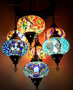 Wall Chandelier Moroccan Lamp Rainbow Lamps Bedside Wall light Hanging Moroccan Lantern Lamp Ceiling Turkish Lamp - Bohemian Home Living Room