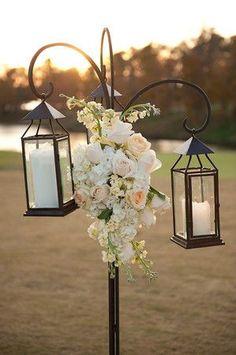 Lanterns for outdoor wedding ceremony