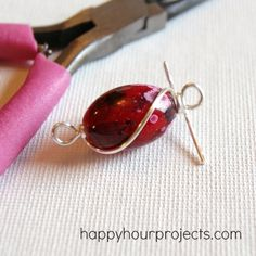 Wire-Wrapped Single Bead Necklace tutorial