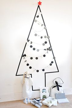 tape christmas tree