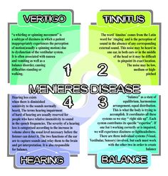 Meniere's Disease -- interesting font used, kind of dizzy-looking.