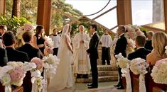 It's the Wayfarers Chapel in Palos Verdes, California — just north of Orange County, and quite far from Revenge's Hamptons locale. Chapel Wedding, Church Wedding, Wedding Ceremony, Wedding Venues, Wedding Photos, Wedding Ideas, Karen Tran, Wayfarers Chapel, Day Wishes