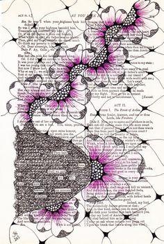 Seek+Heaven+Original+Art++Found+Poetry+by+nzjo+on+Etsy,+$60.00