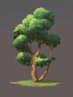 32 best Ideas for tree background nature concept art Landscape Drawings, Landscape Art, Landscape Design, Art Drawings, Digital Art Tutorial, Digital Painting Tutorials, Environment Concept Art, Environment Design, Plant Sketches