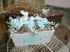IsaBELLEdecor / Luxusná jarná dekorácia so zajačikom