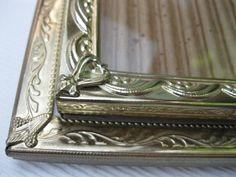 Two Vintage Gold Metal 8x10 Picture Frames with Glass by 4onemore, $20.00