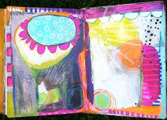 Colorful journal pages by Dori Patrick.