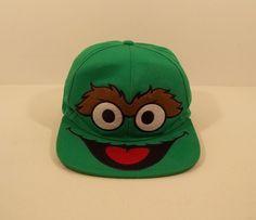 "Sesame Street ""Oscar the Grouch"" Snapback Embroidered Hat   #SesameStreet #BallCap"