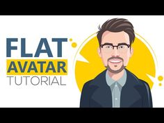 Adobe Illustrator CC 2017 tutorial: How to design a Flat Avatar with details from your image - YouTube