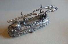 RARE Mustache Hair Curler with Stand Simpson, Hall, Miller & Co.    $495