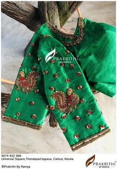Blouse Designs Silk, Bridal Blouse Designs, Work Blouse, Blue Blouse, Indian Blouse, Indian Sarees, Maggam Work Designs, Embroidered Blouse, Cotton Blouses