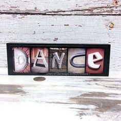 DANCE Sign Wood Sign Picture or by LettersOfLoveDesigns on Etsy