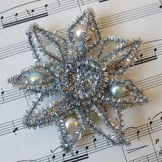 Tinsel Star Ornament tutorial