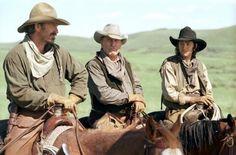 "Kevin Costner ""Charley Waite"", Robert Duvall ""Boss Spearman"", more ~ Open Range Old Western Movies, Western Film, Great Western, Western Art, Western Cowboy, Western Style, Kevin Costner, Style Geek, Open Range"