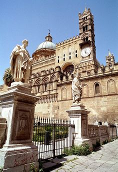 Cathedral of Palermo, Sicily, Italy. I was here with my cousins and my favorite Uncle Vince.  #palermo   #sicilia #sicily