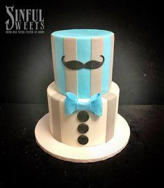 #littleman #mustache #babyboy #cake