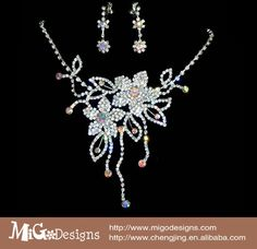 New Designer Full Crystal Fashion Flower Wedding Jewelry Set For Bridal US $16.60