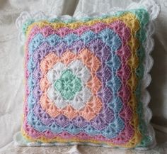 Pastel Pillow Case, Crochet Pillow Case, Pillow Cover, Accent Pillow, Baby Pillow, Baby Room, Baby Decor, Throw Pillow, Cushion Cover
