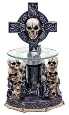 Gothic Flames Bear Electric Oil Warmer
