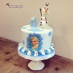 Frozen for Alycia - Cake by Naike Lanza Tarta Frozen Disney, Bolo Frozen, Disney Cakes, Torte Frozen, Frozen Party Cake, Party Cakes, Anna Frozen Cake, Elsa Birthday Cake, Frozen Themed Birthday Cake
