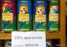 """Ahora en la Tienda de loros de Madrid """"Papagayos y Cía"""", 10% de descuento en pienso Zeigler. Pienso sin colorantes, ideal para una alimentación sana de tu loro.  C / de Murillo, 3 28010 Madrid (Junto a la plaza de Olavide) www.papagayosycia.es Plaza, Madrid, Bottle, Drinks, Thinking About You, Healthy Eating, Parrots, Flask, Drink"""